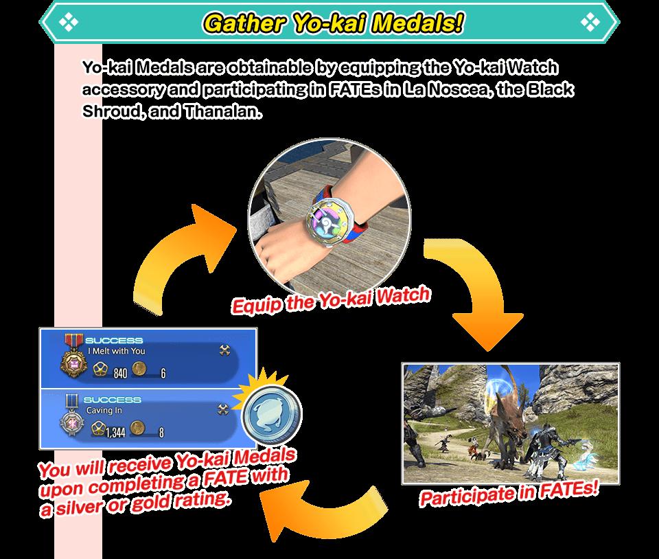 Gather Yo-kai Medals!