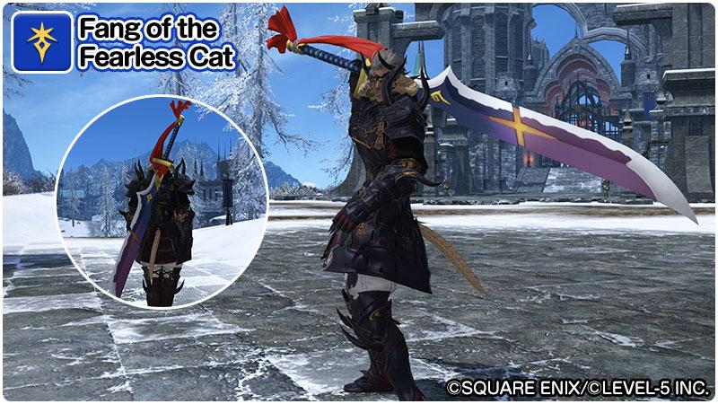 Final Fantasy 14 Yokai Watch Dark Knight Weapon