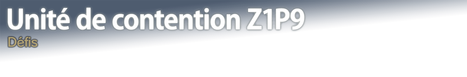 Unité de contention Z1P9