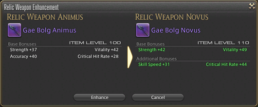 After completing the relic weapon novus, its parameters cannot be ...