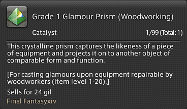 Final Fantasy Glamour Prism Craft