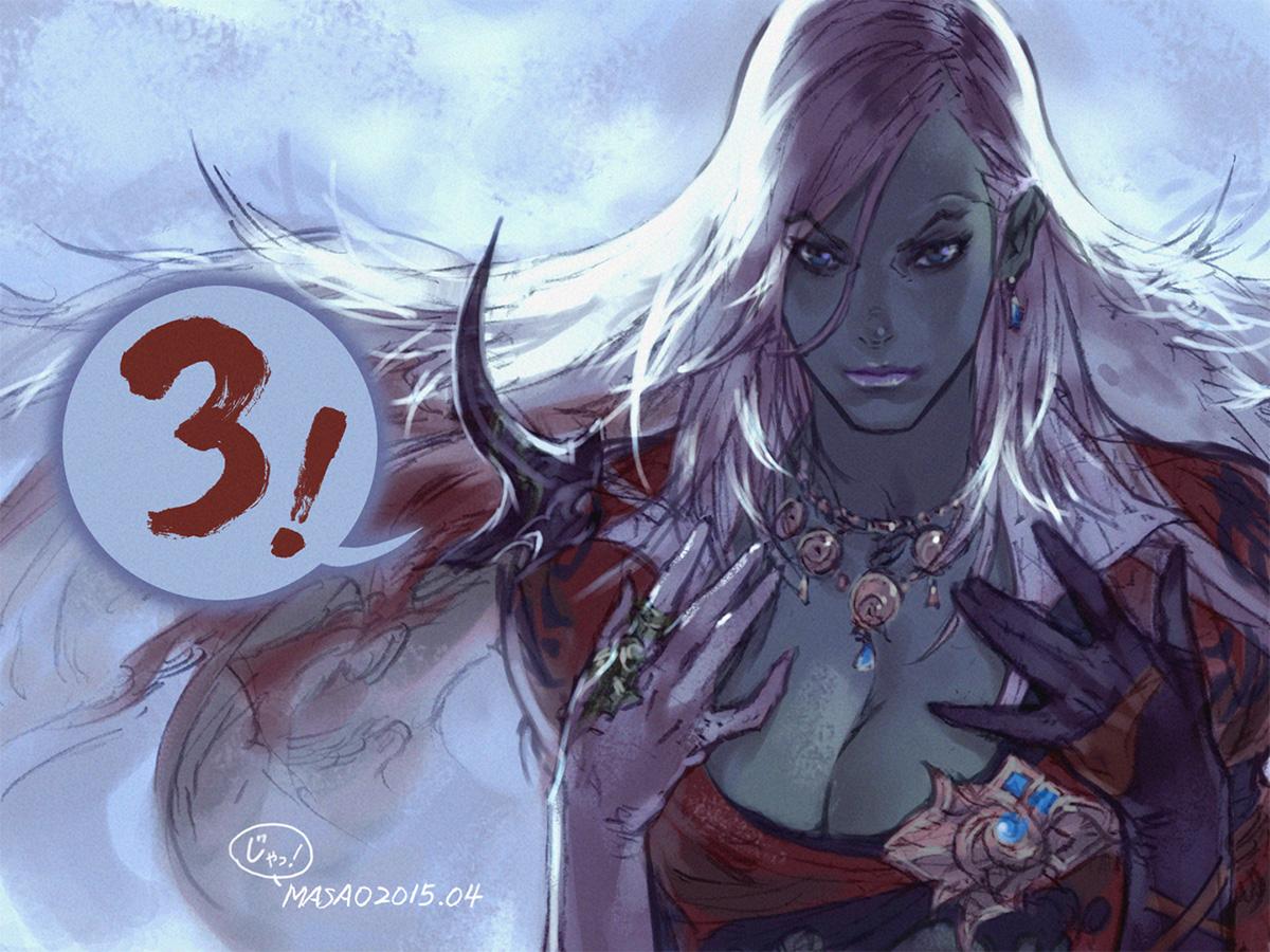 Final fantasy xiv heavensward illustration countdown