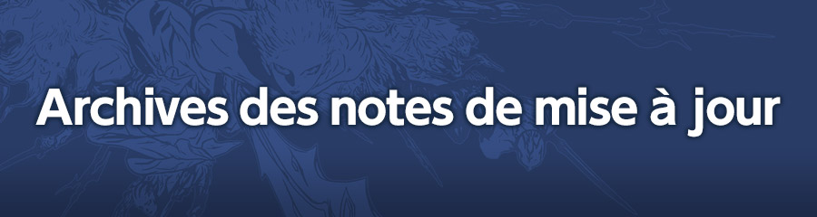 Archives des notes de mise à jour