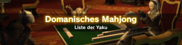 Domanisches Mahjong Liste der Yaku