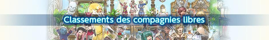 Classements hebdomadaires des compagnies libres