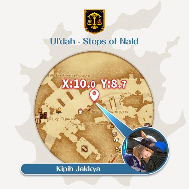 Ul'dah - Steps of Nald X:10.0 Y:8.7 Kipih Jakkya