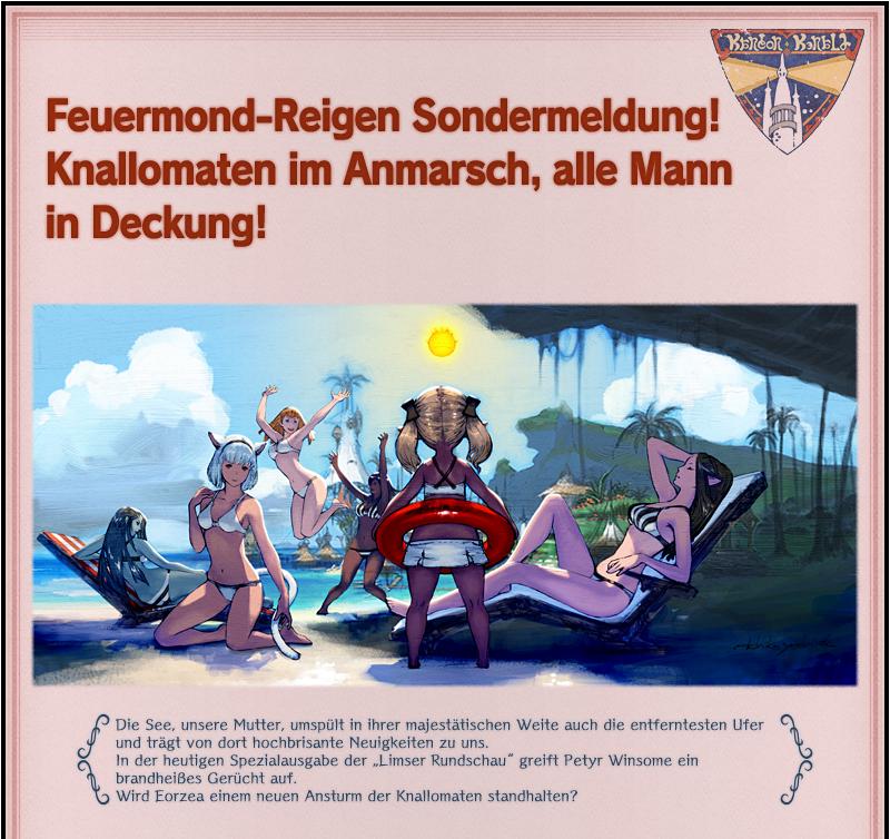 Sondermeldung zum Feuermond-Reigen:Knallomaten im Anmarsch!