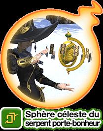 Sphère céleste du serpent porte-bonheur