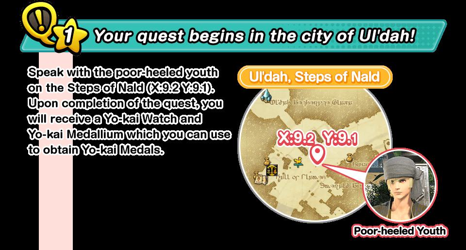 Your quest begins in the city of Ul'dah!