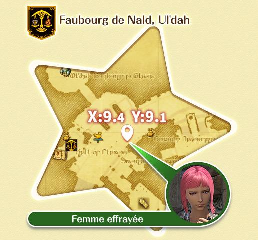 Ul'dah - Faubourg de Nald Femme effrayée