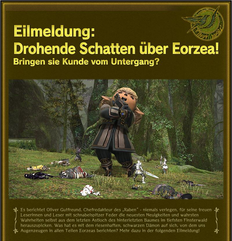 Eilmeldung: Drohende Schatten über Eorzea!<br />Bringen sie Kunde vom Untergang?