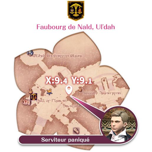Ul'dah - Faubourg de Nald Serviteur paniqué