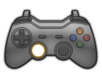 Push in the left analog stick