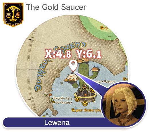 The Gold Saucer (X:4.8 Y:6.1) Lewena