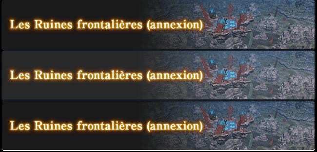 Les Ruines frontalières (annexion)