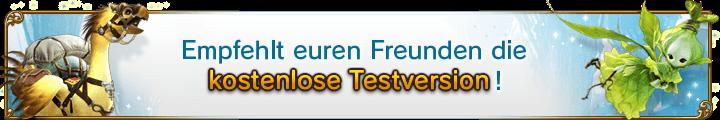Empfehlt euren Freunden die <br />kostenlose 14-tägige Testversion!