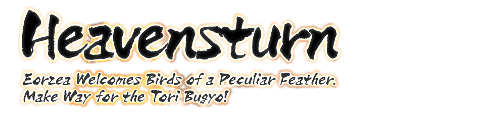 Heavensturn Eorzea Welcomes Birds of a Peculiar Feather.<br>Make Way for the Tori Bugyo!