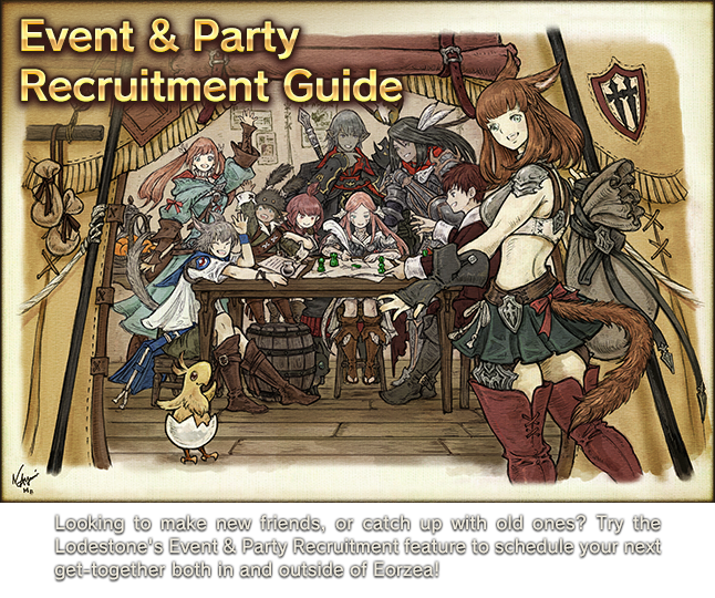 Event & Party Recruitment Guide | FINAL FANTASY XIV, The Lodestone