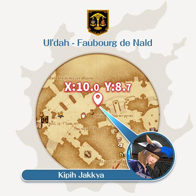 Ul'dah - Faubourg de Nald 10.0, 8.7 Kipih Jakkya