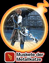 Muskete der Metallkatze