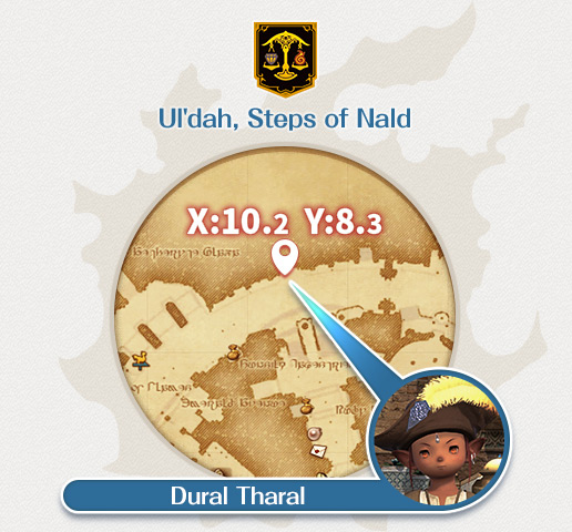A lowly merchant in Ul'dah is down on his luck, and looking for a kind soul to console him. Dural Tharal
