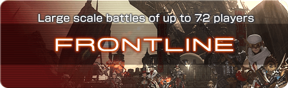 Large scale battles of up to 72 players