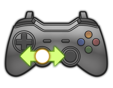 Left Analog Stick Left and Right