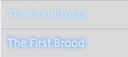 The First Brood