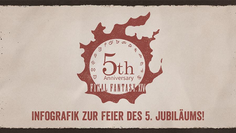 FINAL FANTASY XIV Infografik zur Feier des 5. Jubiläums!