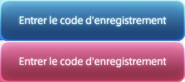 Entrer le code d'enregistrement