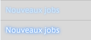 Nouveaux jobs