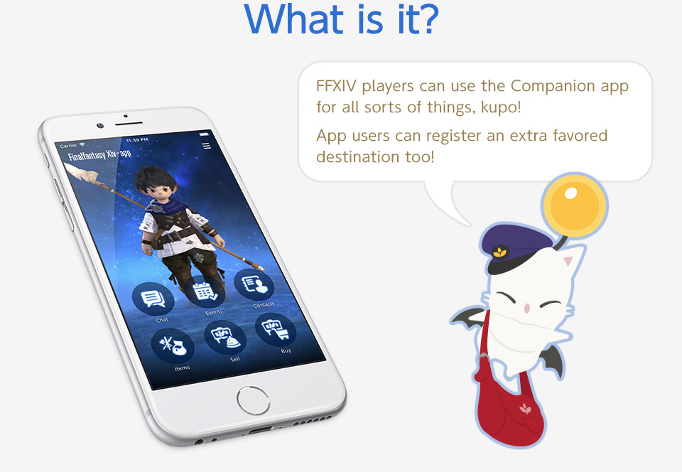 What is it? FFXIV players can use the Companion app for all sorts of things, kupo! App users can register an extra favored destination too!