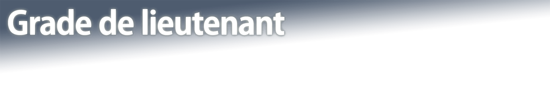 Grade de lieutenant