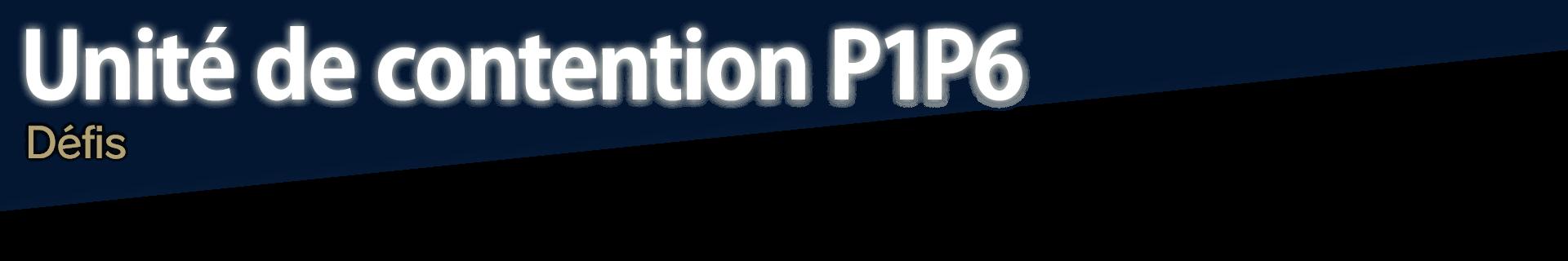 Unité de contention P1P6
