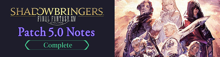 Patch Notes 5.0