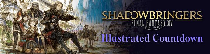 Illustrated Shadowbringers Countdown - 17 Days Left   FINAL