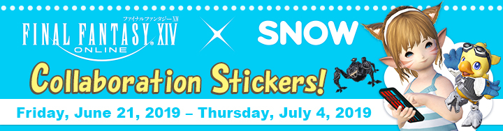 FINAL FANTASY XIV Stickers Now Available in SNOW! | FINAL