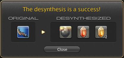 ffxiv desynthesis